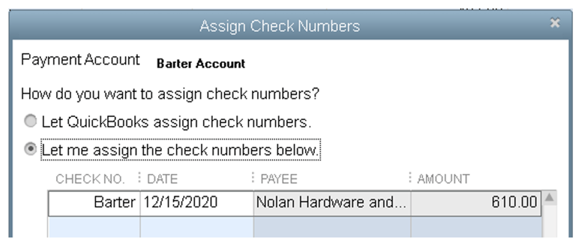 receive the customer payment using the barter payment type in this example the customer is paying only a portion of his invoice with the 610 that you owed