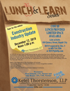 KTLLP Lunch and Learn Construction Dec. 12